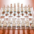 Set of chess figures on the playing board — Stock Photo #5132881
