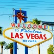 famous las vegas sign on bright sunny day — Stock Photo #5132942