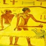 egipski koncepcja z obrazów na ścianie — Zdjęcie stockowe