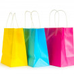 孤立在白色背景上的购物袋 — 图库照片