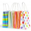 Foto Stock: Shopping bags isolated on the white background