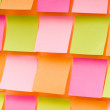 Reminder notes on the bright colorful paper — Stock Photo #5134590