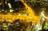 街ドバイ - アラブ首長国連邦下のパノラマ — ストック写真
