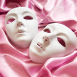 Stock Photo: Theatre concept with the white plastic masks