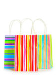 Shopping bags isolated on the white background — ストック写真
