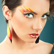Attractive woman with the stylish make up — Stock Photo #5161727