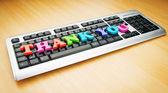 Спасибо сообщение на клавиатуре — Стоковое фото