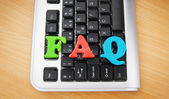 FAQ concept with letters on keyboard — Stock Photo