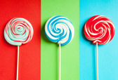 Colorful lollipop against the background — Stock Photo