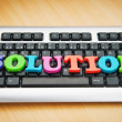 Solution concept with keyboard — Stock Photo #5185791