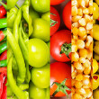 Collage of many different fruits and vegetables — Stock Photo #5186468