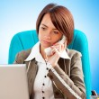 Young business woman working in the office — Stock Photo