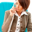 Stock Photo: Young businesswoman talking on the phone