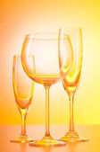 Wine glasses against gradient background — Stock Photo