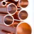 Royalty-Free Stock Photo: Copper pipes of different diameter