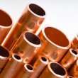 Copper pipes of different diameter — Stock Photo #5259262