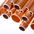 Copper pipes of different diameter — Stock Photo