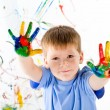 Little boy and bright colors — Stock Photo #5259288