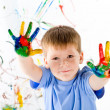 Little boy and bright colors — Stock Photo