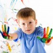 Little boy and bright colors — Stock Photo #5259554