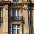 Windows on a facade of the old house — Stock Photo