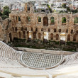 The Odeon of Herodes Atticus is a stone theatre,Acropolis, Athen — Stock Photo