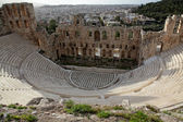 Odeon is a stone theatre, Acropolis of Athens — Stock Photo