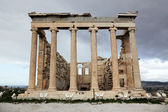 Erechtheum is an ancient Greek temple in Acropolis, Athens — Stock Photo