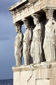 Erechtheum is an ancient Greek temple in Acropolis — Stock Photo