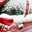 Stock Photo: Snow on car