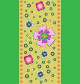 Páska se stylizovanými květy — Stock vektor