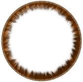 Round fur framework — Stock Photo