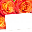 Royalty-Free Stock Photo: Roses with card