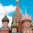 St. Basil&#039;s Cathedral in Moscow on red square - Stock Photo
