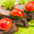 Three peaces of meat — Stock Photo