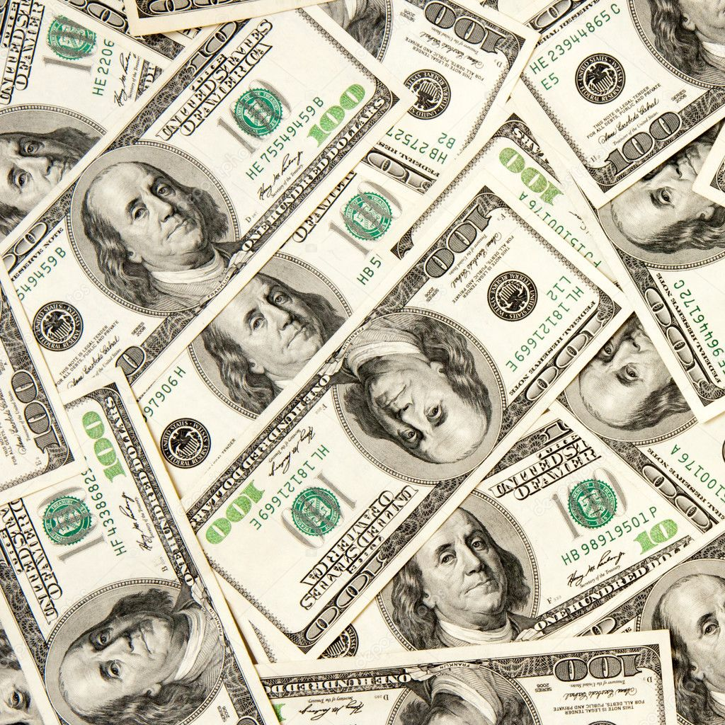 Heap of dollars, money background — Stock Photo #4875932
