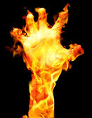Burning arm — Stock Photo