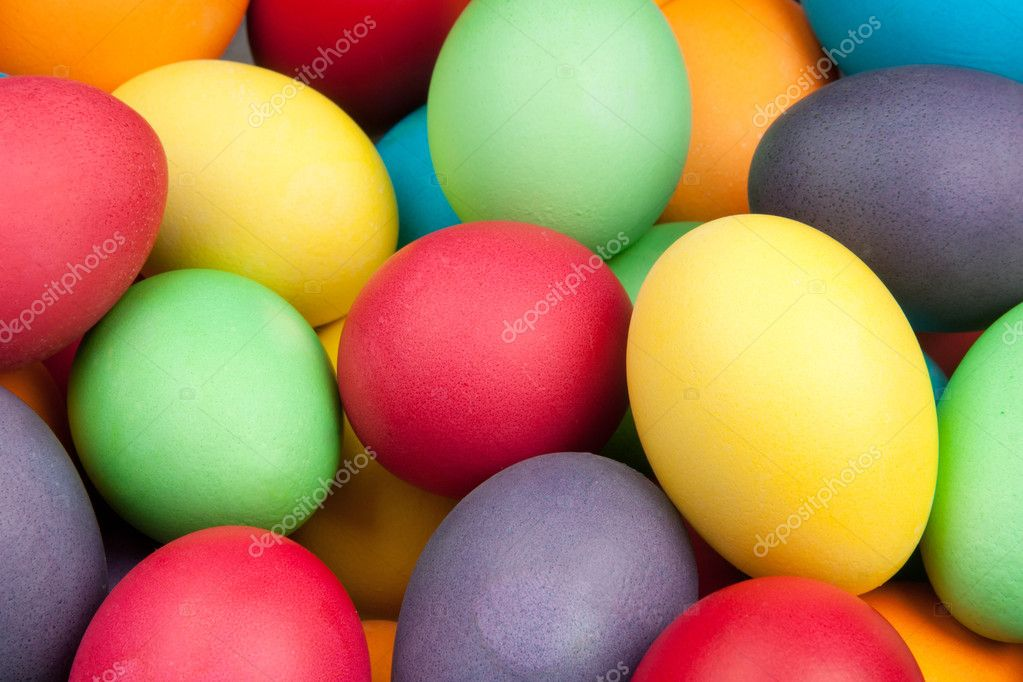 Color eggs for holiday easter, background — Stock Photo #5325194