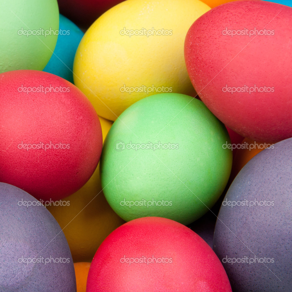 Color eggs for holiday easter, background  Stock Photo #5325205