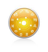 Rode en gele cirkel patroon — Stockvector