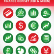 Finance Icon Set — Stock Vector