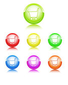 Basket color icons — Stock Vector