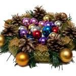 Christmas Tree Decoration garland. Isolated over white backgroun — Stock Photo #4342576