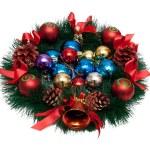 Christmas Tree Decoration garland. Isolated over white backgroun — Stock Photo #4342627