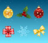 Vánoční ikony. vektor — Stock vektor