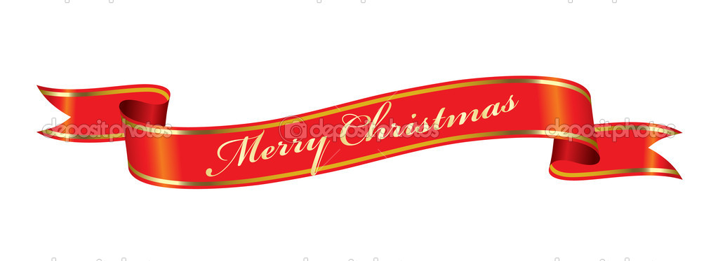 Merry Christmas tape — Stock Vector #4343699