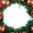 Christmas Tree Decoration garland. Isolated over white backgroun — Stock Photo