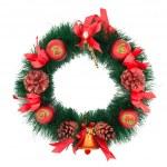Christmas Tree Decoration garland. Isolated over white backgroun — Stock Photo #4403526