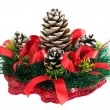 Stock Photo: Christmas tree with a pinecone