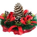 松笠とクリスマス ツリー — ストック写真